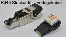Rj45 Stecker Werkzeugfreichina by Rj45 Stecker Auf Verlegekabel Crimpen Aufbringen Rj 45