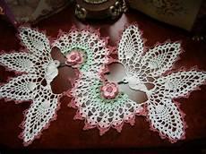 birds weddins crochet doily