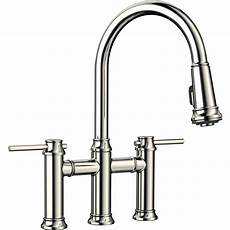 Bridge Kitchen Faucet Blanco Empressa 2 Handle Bridge Kitchen Faucet With Pull