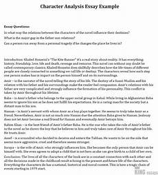 Character Sketch Essay Example How To Write A Character Analysis Essay 6 Great Examples