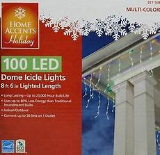 Home Accents Holiday Icicle Lights Christmas Home Accents Holiday 100 Led Multi Color Dome