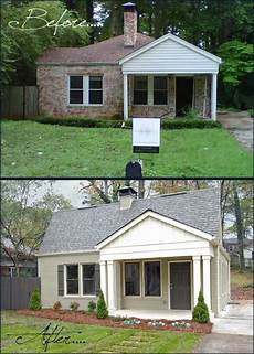 before and after home exterior makeover house