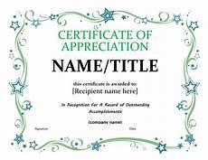 Certificate Of Apreciation 17 Certificate Of Appreciation Templates Free Printable