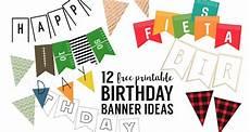 Free Happy Birthday Banner Printables Free Printable Birthday Banner Ideas Paper Trail Design