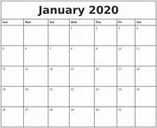 Printable Monthly Calendar January 2020 Monthly Calendar Monday To Friday Calendar Template
