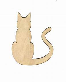 Cat Shapes To Cut Out Alley Cat Unfinished Wood Shape Cut Out Ac4740 Crafts