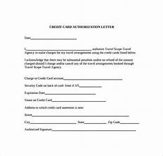 Credit Card Authorization Letter Template Free 9 Credit Card Authorization Letter Templates In Pdf