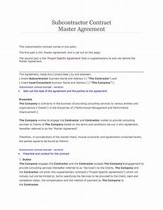 Free Subcontractor Agreement Need A Subcontractor Agreement 39 Free Templates Here