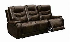 Power Reclining Sofa 3d Image by Tempo Brown Leather Power Reclining Sofa With Itable 2 0
