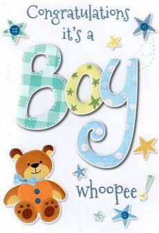 Congratulation Baby Cards New Baby Boy Card Lovely Cello Wrapped Congratulations