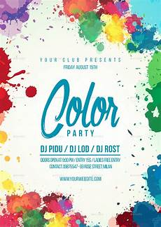 Flyer Color The Color Party Flyer Template By Lapabrothers Graphicriver