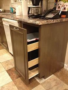 white kitchen trash pull out cabinet diy projects