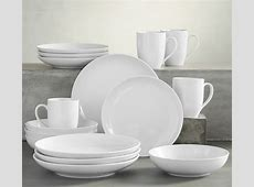 Great White Coupe Dinnerware   Pottery Barn