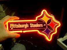 3d Football Wall Light New Pittsburgh Steelers Football 3d Carved Real Neon Sign