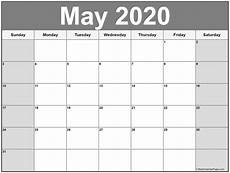 Blank May Calendar 2020 May 2020 Calendar Free Printable Monthly Calendars