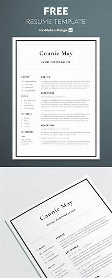 Resume Templates For Indesign Simple Resume Template For Indesign Free Download