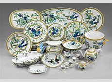 "Hermes ""Toucan"" Porcelain Dinnerware Service For Sale at"