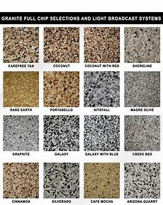 Granite Color Chart Epoxy Colors Best Commercial Epoxy Flooring In Phoenix