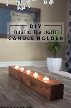 Tea Light Holder Crafts Diy Rustic Tea Light Candle Holder Mountain Modern Life