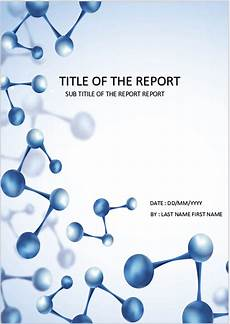 Chemistry Cover Page Designs Cover Page Download Template For Ms Word Molecules