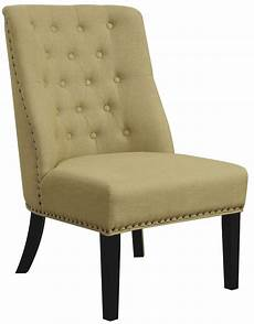 accent chair yellow yellow linen like fabric accent chair 902497 coaster