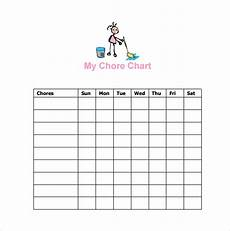 Chore Chart Template Word Free 16 Sample Chore Chart Templates In Google Docs Ms
