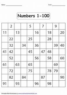 Fill In 100 Chart Number Charts