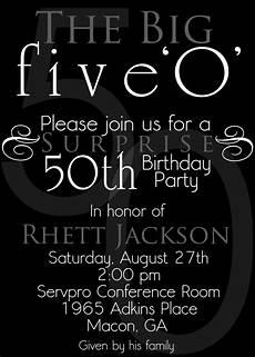 50th Birthday Invites Templates Nice The 50th Birthday Invitation Template Free Templates