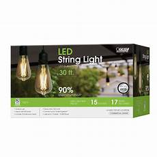Smart Electrician Grow Led String Light 15 Light 30 Ft Integrated Led String Light With Vintage