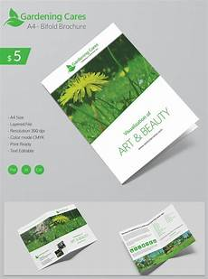 Template For Brochure Free Beautiful Gardening Care A4 Bi Fold Brochure Template