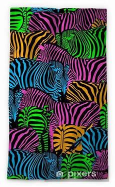 Colorful Zebra Design Colorful Zebra Seamless Pattern Savannah Animal Ornament