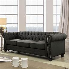 furniture of america kevi traditional tufted chesterfield