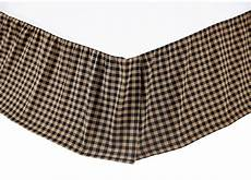 black check king bedskirt country western