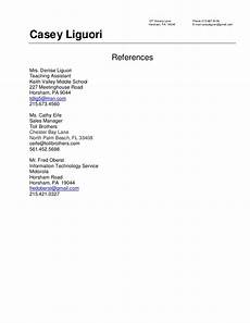 Examples Of References On Resume 8 Reference On Resume Sample Hennessy Events