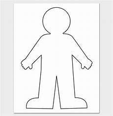 Body Template Outline Human Body Outline Template 32 Printable Worksheets