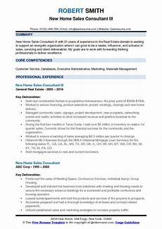 New Home Sales Resume New Home Sales Consultant Resume Samples Qwikresume
