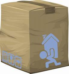 clipart misc bag moving box