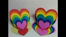 and craft how to make rainbow card easel