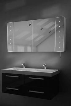 Bathroom Mirror Cabinet With Battery Lights Karma Led Illuminated Battery Bathroom Mirror Cabinet With