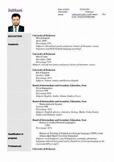 Example Of Resume Form Sample Resume