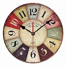 Fashionable Large Wall Clock Home Office by 2017 Mdf Wooden Wall Clock Modern Design Vintage