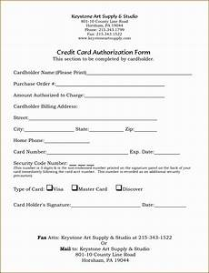 Credit Card Authorization Letter Template 10 Credit Application Template Excel Sampletemplatess