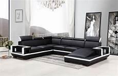 divani sofa divani casa 5102 modern black white bonded leather