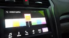 2010 Ford Fusion Ambient Lighting 2017 2020 Ford Fusion Interior Ambient Lighting Youtube