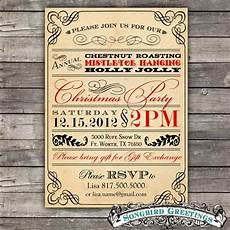 Vintage Party Invitation Items Similar To Diy Vintage Christmas Party Invitation