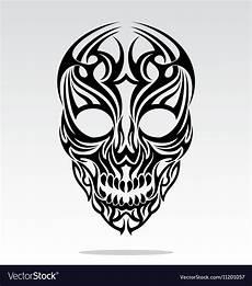 Tribal Skull Designs Tribal Skulls Design Royalty Free Vector Image