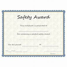 Safety Award Certificate Template Safety Award