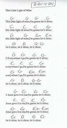 Bright Lights Chords This Little Light Of Mine Guitar Chord Chart In G Major