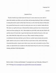 Persuasive Essay On Homework Persuasive Essay On Why We Should Not Have Homework