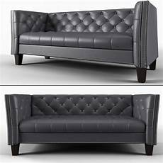 Small Grey Sofa 3d Image by 3d Model Sofa No 4 Gray Bi Cast Leather Sofa